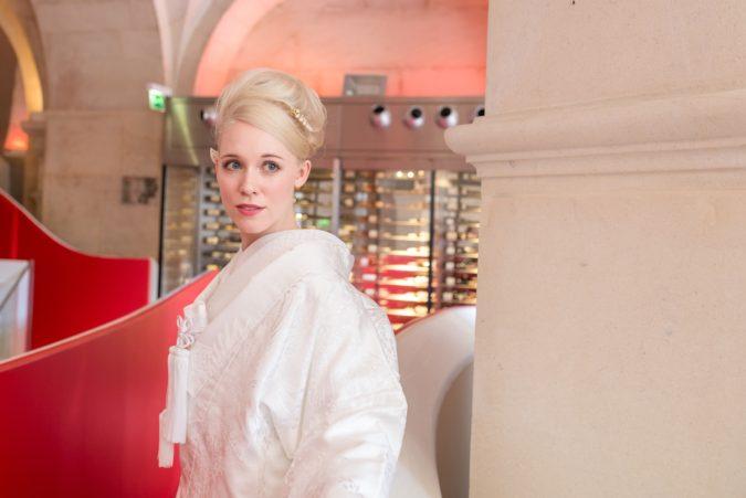 パリで和装プロモーションのための着物ポートレート撮影