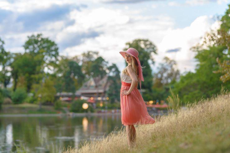 『ブローニューの森』で女性ポートレート撮影