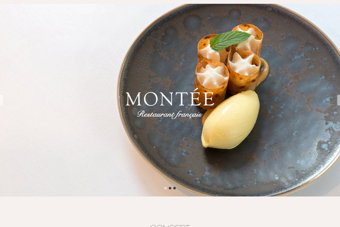 パリ14区レストランサイト制作・構築 – MONTEE