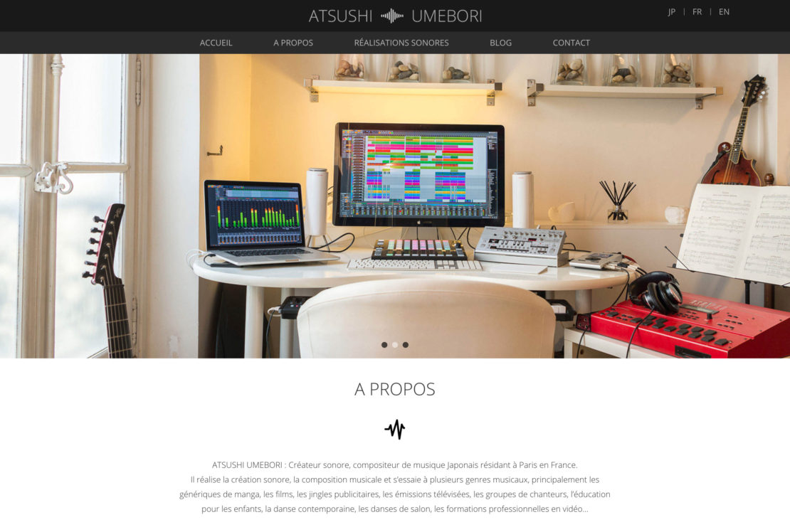 クリエイター系ポートフォリオサイト制作・構築 – ATSUSHI UMEBORI
