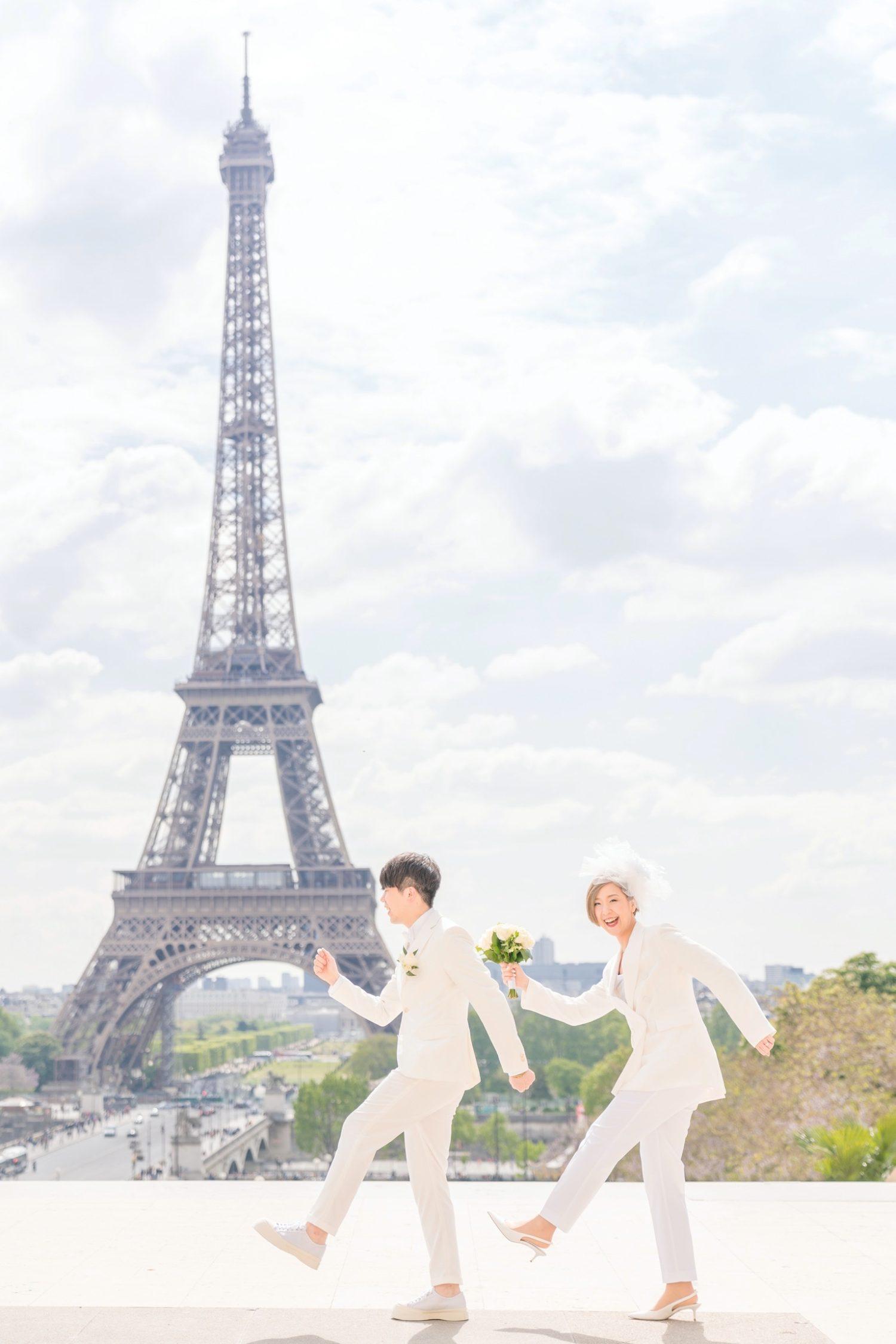 【エッフェル塔でウェディングフォト】 – パリのシンボル⑤