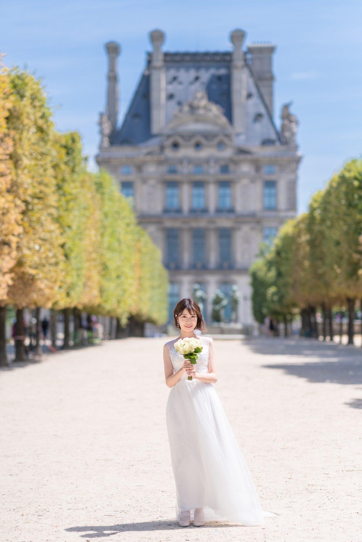 パリ中心地のウェディングフォトツアー撮影スポット①